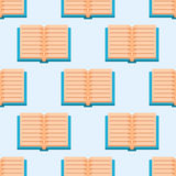 Colorful book vector illustration learn literature study seamless pattern education knowledge document textbook Stock Images