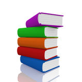 Colorful  book on white background Stock Image