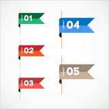 Colorful bookmark Royalty Free Stock Photography