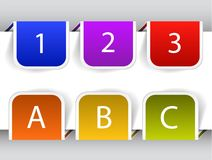 Colorful bookmarks Royalty Free Stock Image