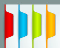 Colorful bookmarks Stock Images