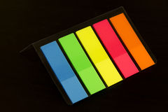 Colorful bookmarks for documents Royalty Free Stock Image