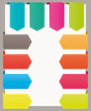Colorful bookmarks website ribbons. Colorful bookmarks website ribbons collection Royalty Free Stock Photos
