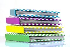 Colorful books. On a white background Royalty Free Stock Photos