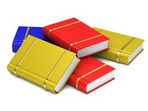 Colorful books. On white background Stock Photo