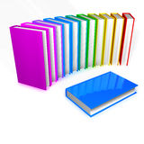 Colorful Books. 3d render of a colorful pile of books isolated on white background Royalty Free Stock Image