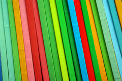 Colorful Books. Background of colorful children books standing in a shelf royalty free stock images