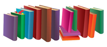 Colorful books Royalty Free Stock Photos