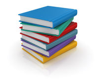 Colorful books Stock Image