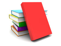 Colorful books. 3d illustration of colorful books stack, over white background Royalty Free Stock Photos