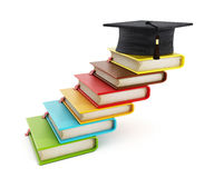 Colorful books forming stairs Royalty Free Stock Images