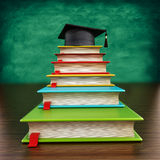 Colorful books forming stairs Stock Photos