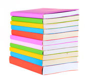 Colorful books isolated royalty free stock photo