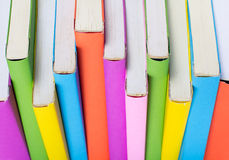 Colorful books isolated Stock Photo
