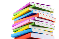 Colorful books isolated Stock Photography