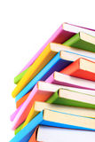 Colorful books isolated Royalty Free Stock Photography