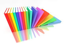 Colorful books row Royalty Free Stock Image