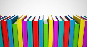 Colorful books series Stock Images