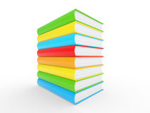 Colorful books stack Stock Photography