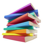 Colorful books stack education Royalty Free Stock Images