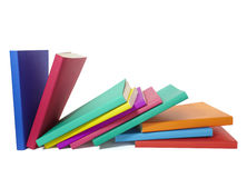 Colorful books stack education Royalty Free Stock Photo