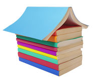Colorful books stack education Stock Photo