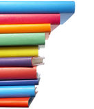 Colorful books stack education Royalty Free Stock Photos