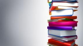 Colorful Books Stack (Loop) stock footage