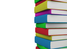 Colorful books stacked Royalty Free Stock Image
