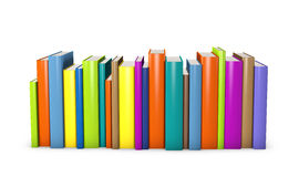 Colorful books. Standing in a row Stock Image