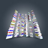 Colorful books tower and stair. Vector, 3ds Colorful books tower and stair Stock Photos