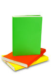 Colorful books  on white background isolated Stock Images