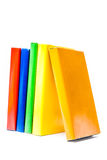 Colorful books on white background Royalty Free Stock Image