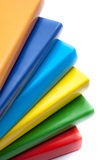 Colorful books on white background Royalty Free Stock Images