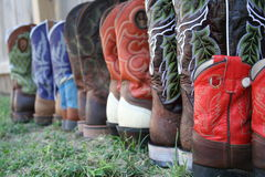 Colorful boots Royalty Free Stock Photos