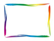 Colorful border. A colorful border for your text royalty free illustration