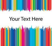 Colorful Border. Colorful frame made in adobe illustrator, replace your text with your text here Stock Photos