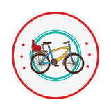 Colorful border with bicycle and chair Royalty Free Stock Photos