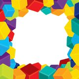 Colorful Border from Cubes Royalty Free Stock Images