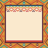 Colorful border in navajo style, vector illustration. Colorful border in navajo style Royalty Free Stock Photo