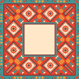 Colorful border in navajo style Royalty Free Stock Photos
