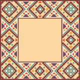 Colorful border in navajo style Stock Photo