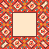 Colorful border in navajo style Royalty Free Stock Photography