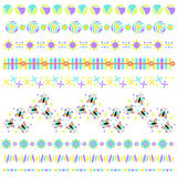 Colorful border or trim collection Stock Image