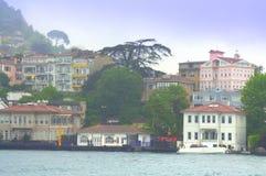 Colorful Bosphorus houses Stock Photos