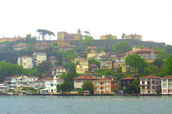 Colorful Bosphorus houses Stock Photo