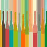 Colorful bottle on background Royalty Free Stock Image