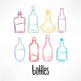 Colorful bottle with beverages Stock Image