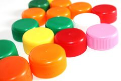 Colorful bottle caps Royalty Free Stock Photos