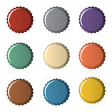 Colorful bottle caps Stock Photography